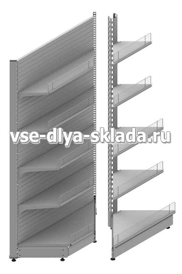 Торговый стеллаж угловой (внешний/внутренний)